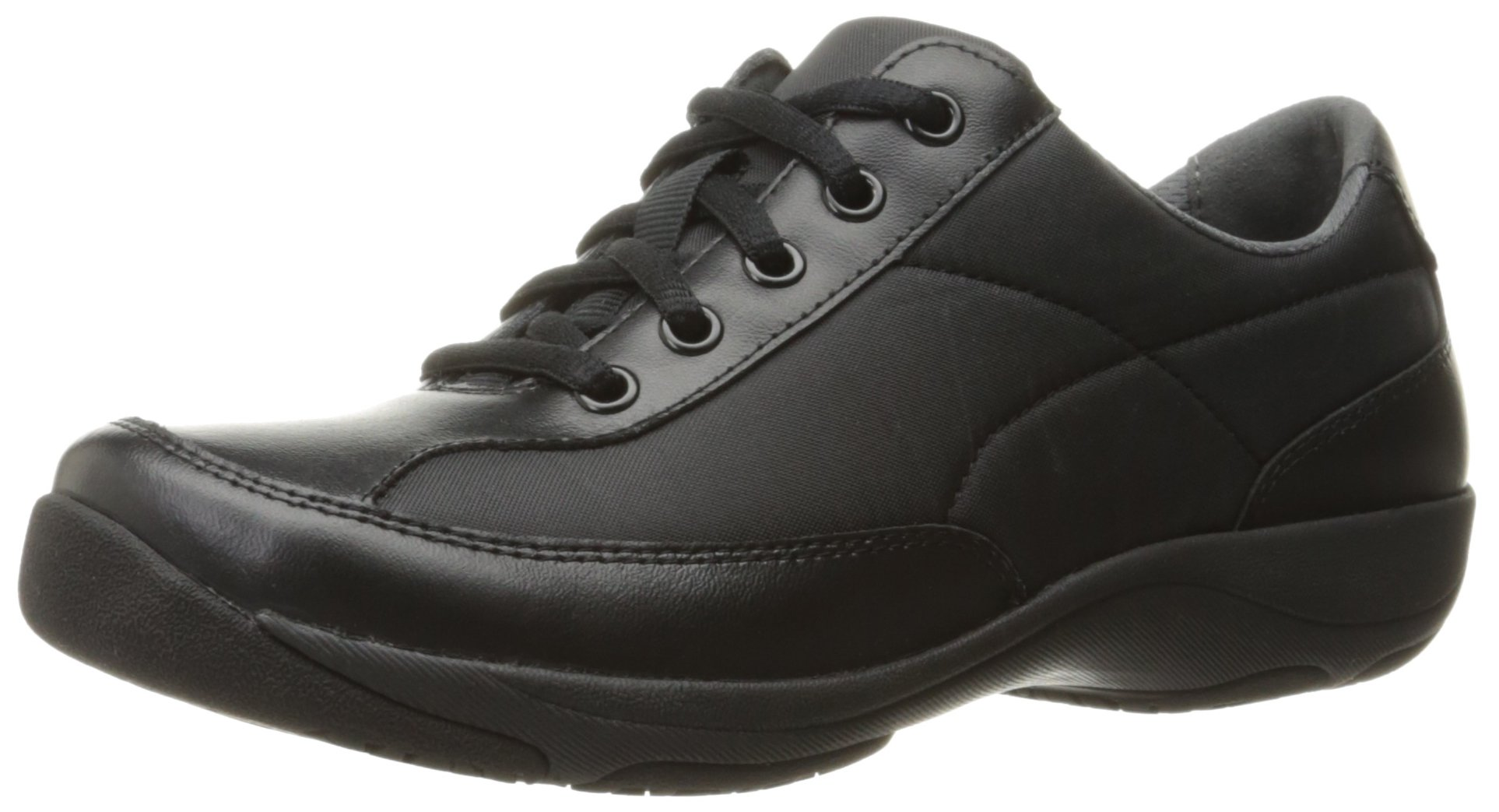 Dansko Women's Emma Flat, Black Nylon/Leather, 36 EU/5.5-6 M US