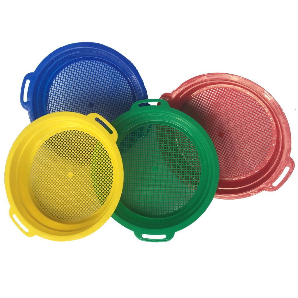 Jurassic Sands Multi-Colored Sifter Sieves - Set of 4