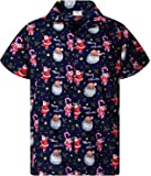 KAMEHAMEHA King Kameha Hawaiian Shirt for Men Funky Casual Button Down Very Loud Shortsleeve Christmas Unisex X-Mas Mix