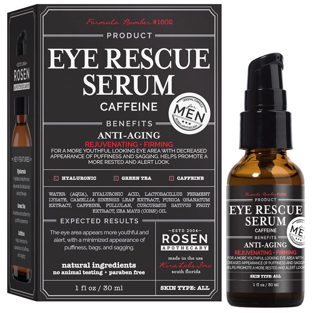 Rosen Apothecary Men's Eye Rescue Serum for Youthful Looking Eye Area 1oz/30ml by Rosen Apothecary