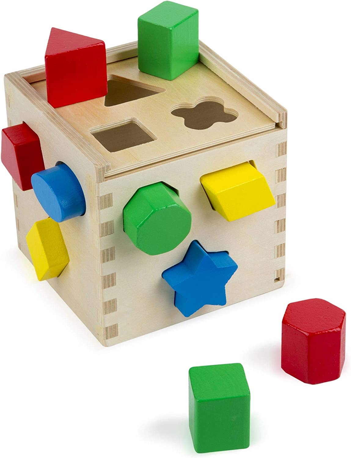Melissa & Doug Shape Sorting Cube Classic Wooden Kids Toy - The ...