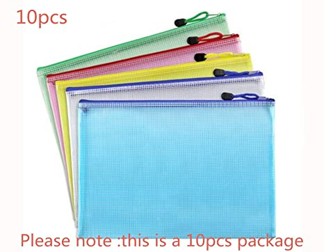 Amazon.com: Bolsas con cremallera, paquete de 5, 5 colores ...