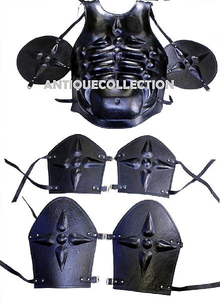 Amazon.com: Medieval - Traje de cuero negro romano: Clothing