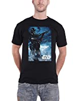 Star Wars T Shirt Rogue One Death Trooper Official Mens Black
