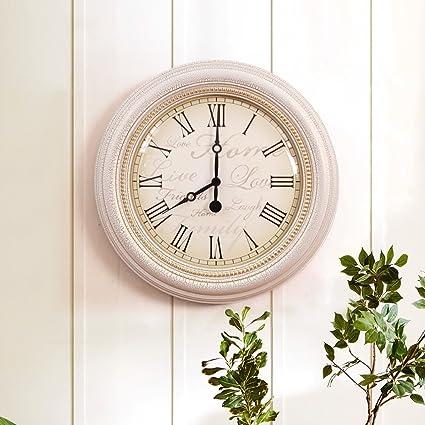 MOMO Relojes de Pared Circulares clásicos del Estilo Europeo de la Sala Relojes Digitales Romanos de