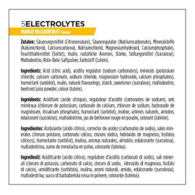 PowerBar 5 Electrolytes 12 tubos x 10 tabletas - Sabor - Mango-PassionFruit: Amazon.es: Salud y cuidado personal