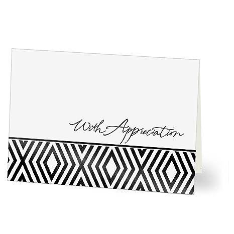 Amazon Com Hallmark Thank You Cards Appreciation In Black White
