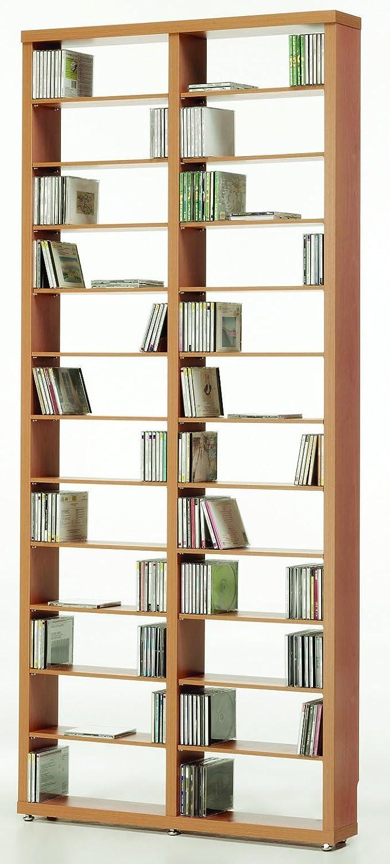 Top Kit | Estantería Cds DVDs Berlin 2010 | Medidas 208 x 66,5 x 15 cm | Estantería Libros | Roble