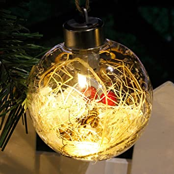 Clear Plastic Ornaments Fillable Christmas Tree Balls LED Light for Garden  Patio Home Wedding Anniversary Christmas - Amazon.com: Clear Plastic Ornaments Fillable Christmas Tree Balls