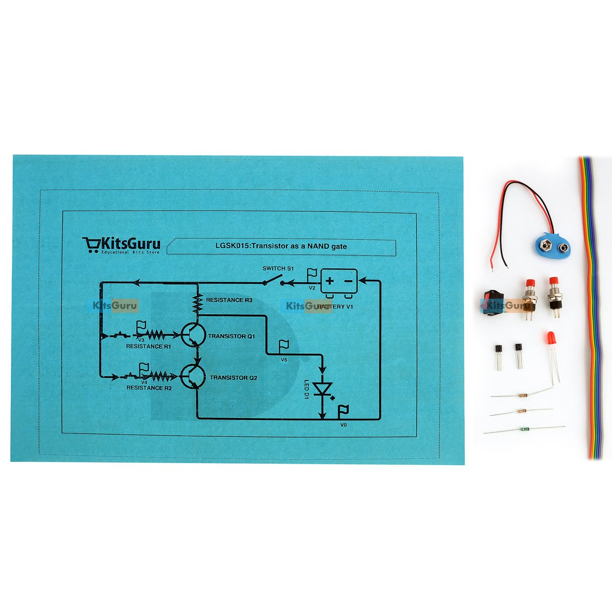 Kitsguru Diy Kit Transistor As Nand Gate Lgsk015 Easy Science Circuit Diagram Using Project