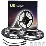 LE 16.4ft LED Flexible Light Strip, 300 Units SMD 2835 LEDs, 12V DC Non-waterproof, Light Strips, LED ribbon, Christmas Holiday Home Kitchen Car Bar Indoor Decoration (Daylight White) (4100057-DW-2)