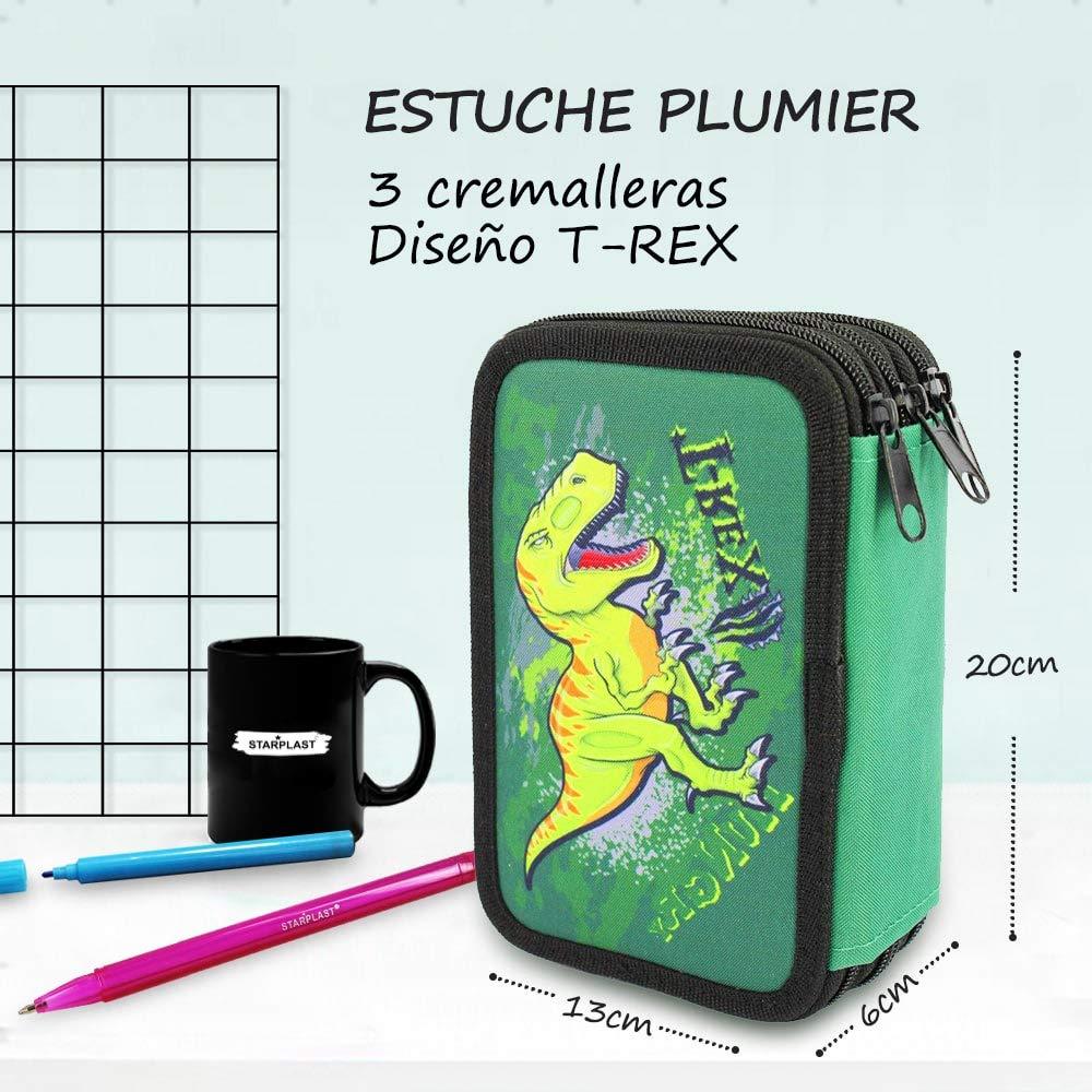 Starplast Portamonete per salvare Vernici Design per bambini Plumier Regole e Materiali design Unicorno 20 cm x 6 cm x 13 cm Triple Giotto
