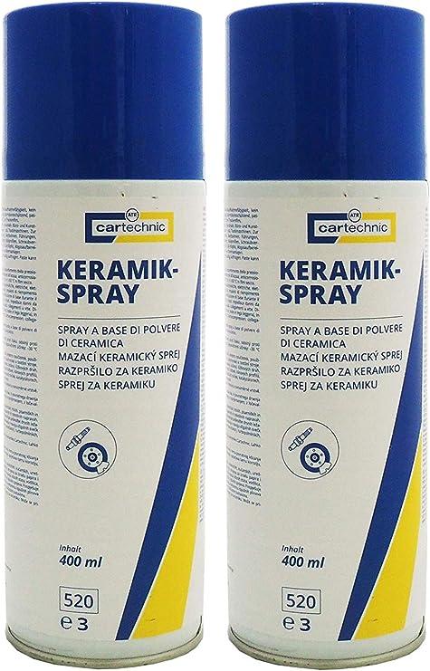 2x 400ml Cartechnic Keramikspray Schmiermittel Montagepaste Keramikpaste Auto