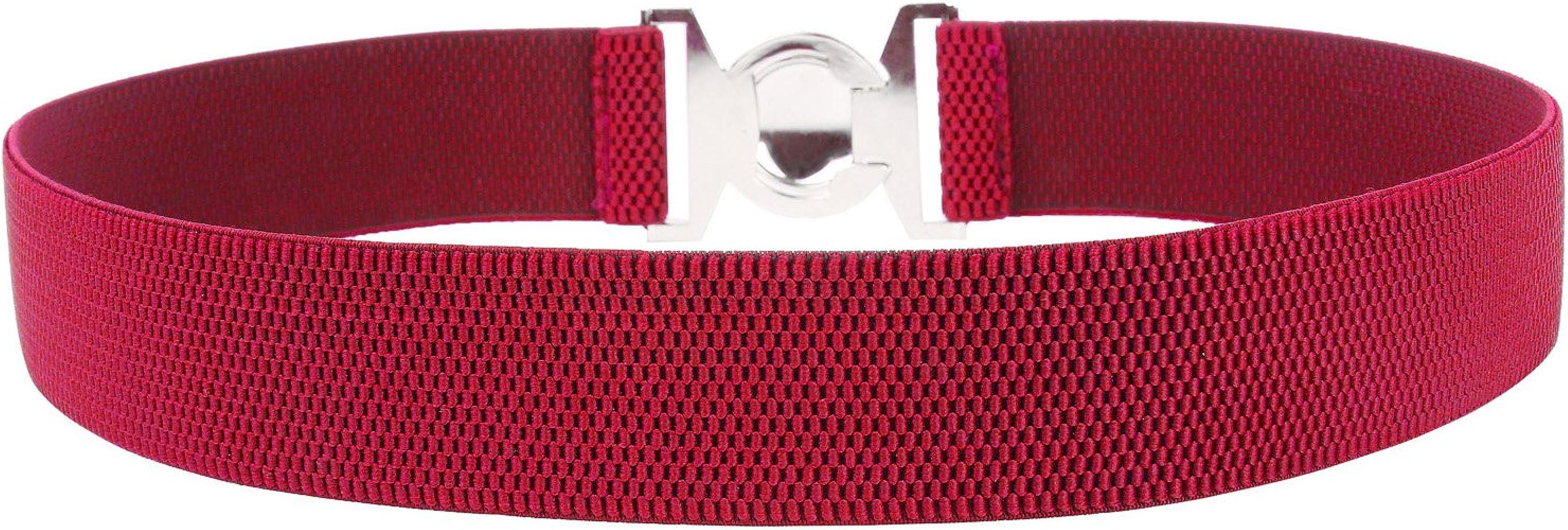 Fashion Elastic Metal Waist Belt Wide Waistband for Female Dress Accessories DI