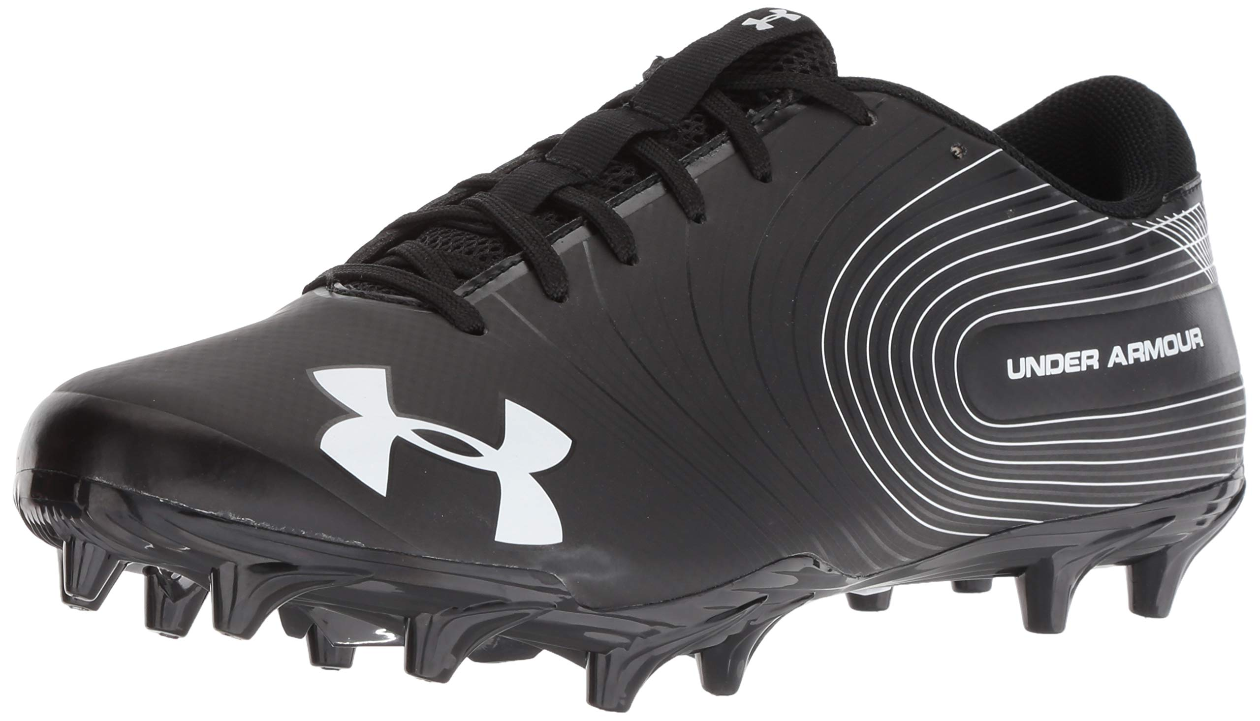 Under Armour Men's Speed Phantom MC Football Shoe Black (001)/White 6.5 by Under Armour (Image #1)
