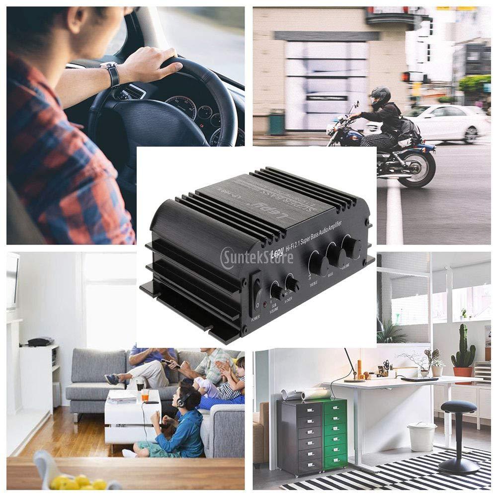 Almencla Mini Hi-Fi Amplificatore Stereo Per PC Home Car Speaker DC 12V 2x45W 2 Canali