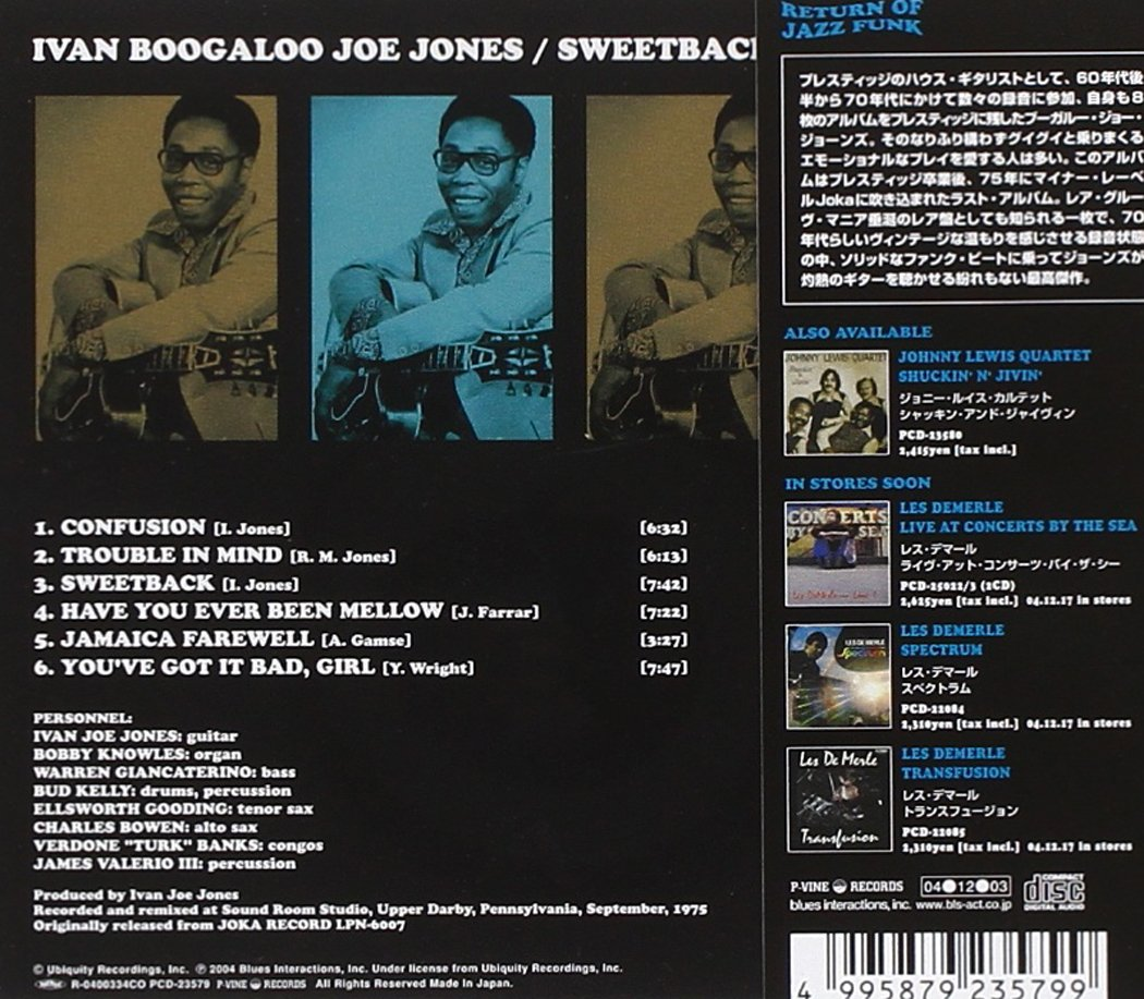 Ivan Jones Audio CD Back Cover