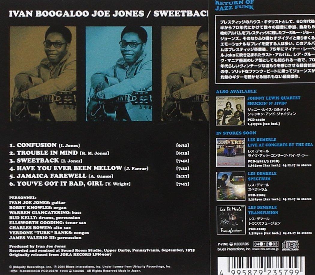 Ivan Jones Audio CD Back Cover