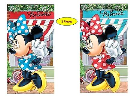 Minnie Disney 2 x niños Toalla/Toalla de Cara 35 x 65 cm Mouse niña