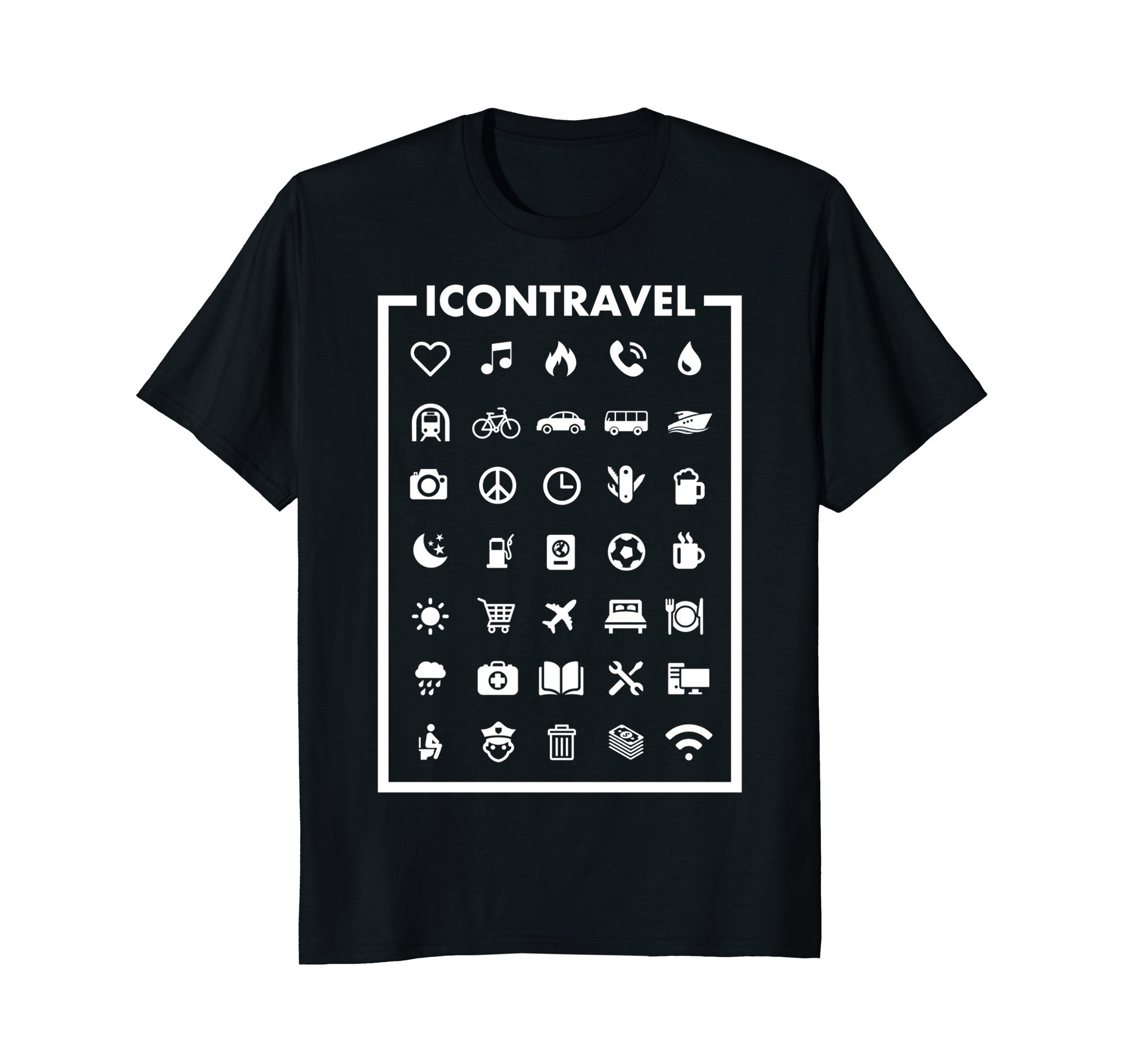 Icon Travel Shirt - Speak with Icons! Funny T-Shirt Gift