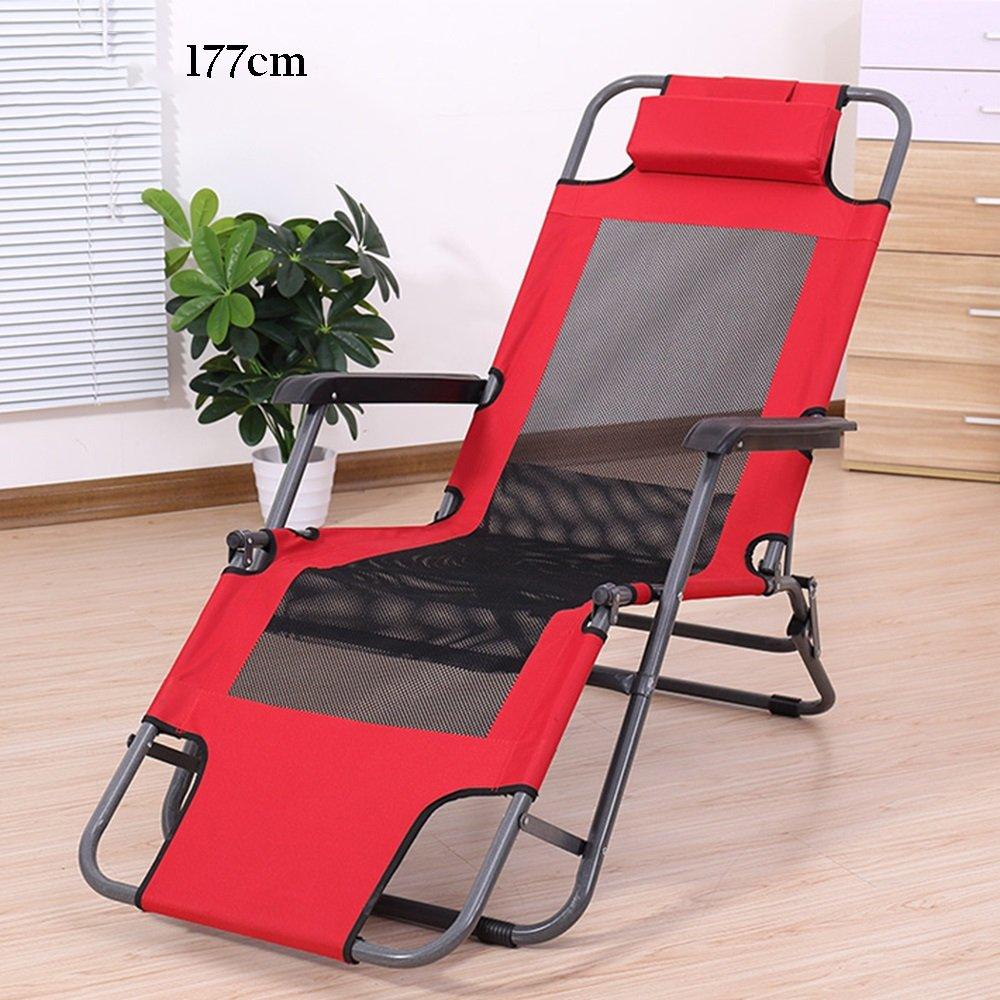 最新な KTYXDE 夏のリクライナー折りたたみチェアバルコニーオフィスランチブレークチェアビーチチェア怠惰なチェアチェア 折りたたみ椅子 (色 Red Red, : Red, B07KVW47KL サイズ さいず : 177cm) 177cm Red B07KVW47KL, IKUKO(イクコ) shop Lilylily:442da404 --- arianechie.dominiotemporario.com