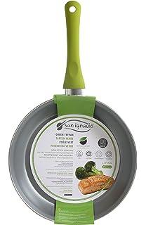 San Ignacio SARTEN 20cm Antiadherente con Mango Soft Touch Lima, Acero, Verde, 20…