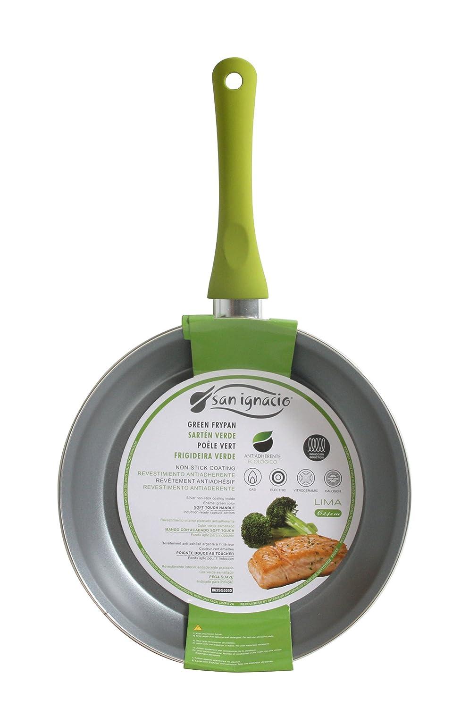 San Ignacio SARTEN 20cm Antiadherente con Mango Soft Touch Lima, Acero, Verde, 20 Centimeters: Amazon.es: Hogar