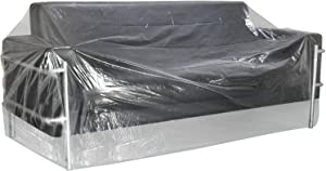 """TUPARKA Large Furniture Cover 9ft Christmas Tree Poly Storage Bag 110"""" x 72"""" with Small Moving Bags, 2 Set"""