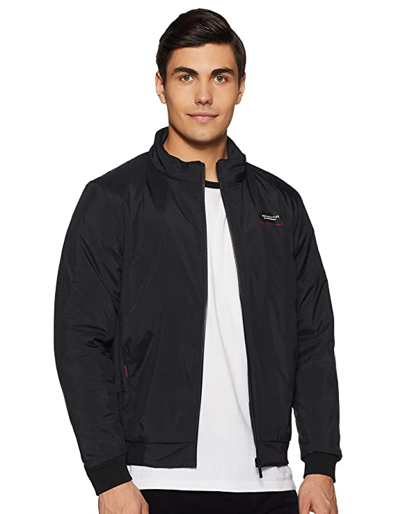 Buy Qube By Fort Collins Men's Jacket (62169AZ_Black_M) at Amazon.in