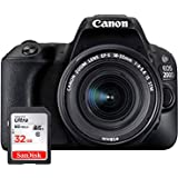 canon eos 200d digitale spiegelreflexkamera 3 zoll kamera. Black Bedroom Furniture Sets. Home Design Ideas
