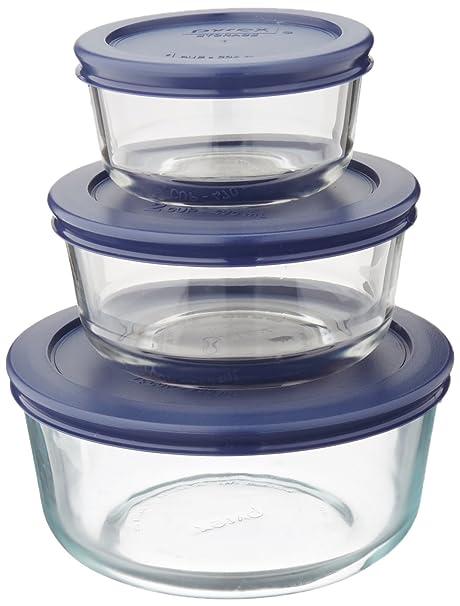 Amazon Com Pyrex Simply Store 6 Piece Glass Food Storage Set