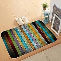 Bath Mat Non-Slip Absorbent Soft Mat,Solid Wood Floor Printing pad,Suitable for Bathroom Living Room Kitchen Bedroom,40…