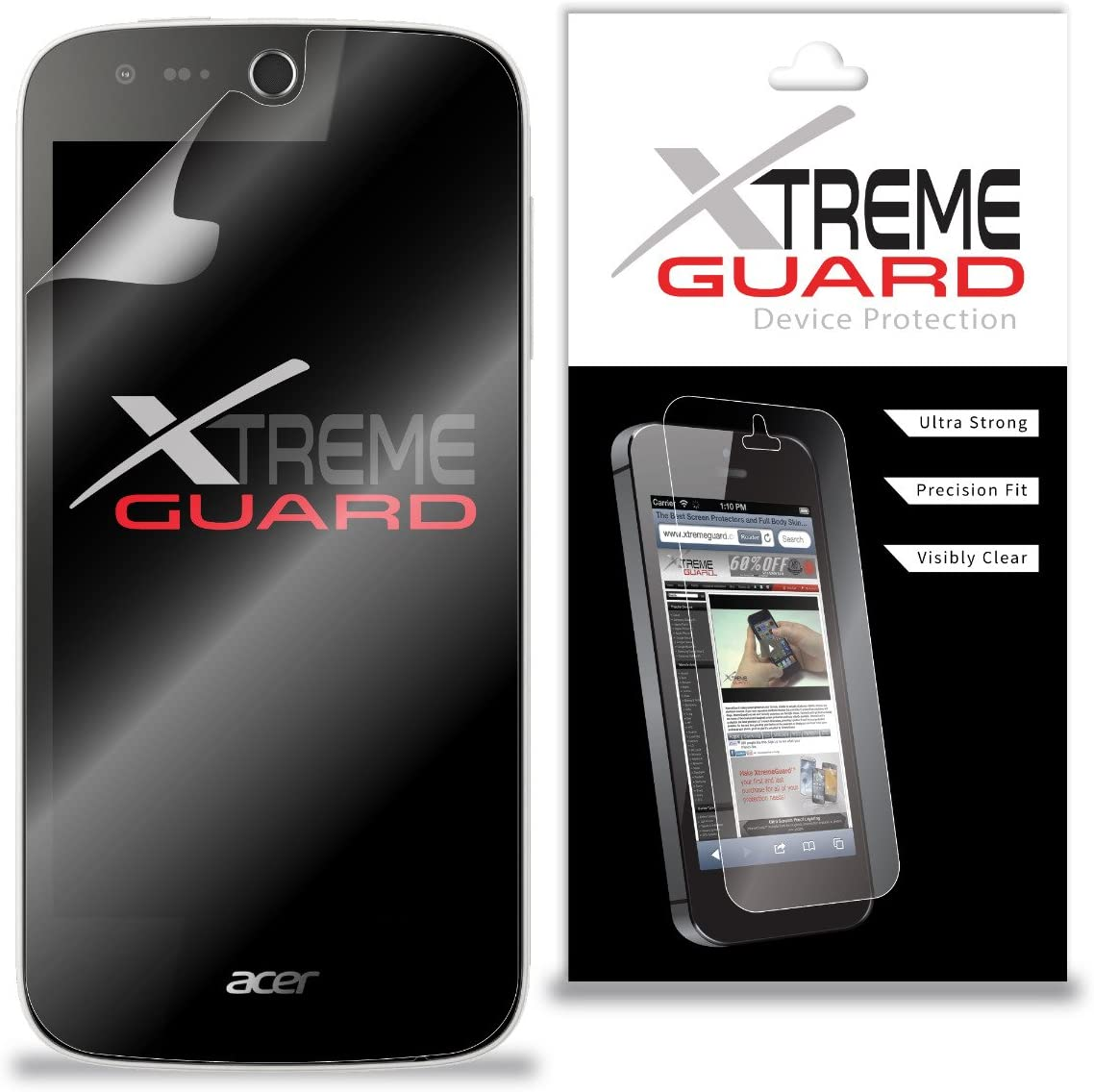 Premium XtremeGuard Screen Protector Cover for Acer Liquid Z330 (Ultra Clear)