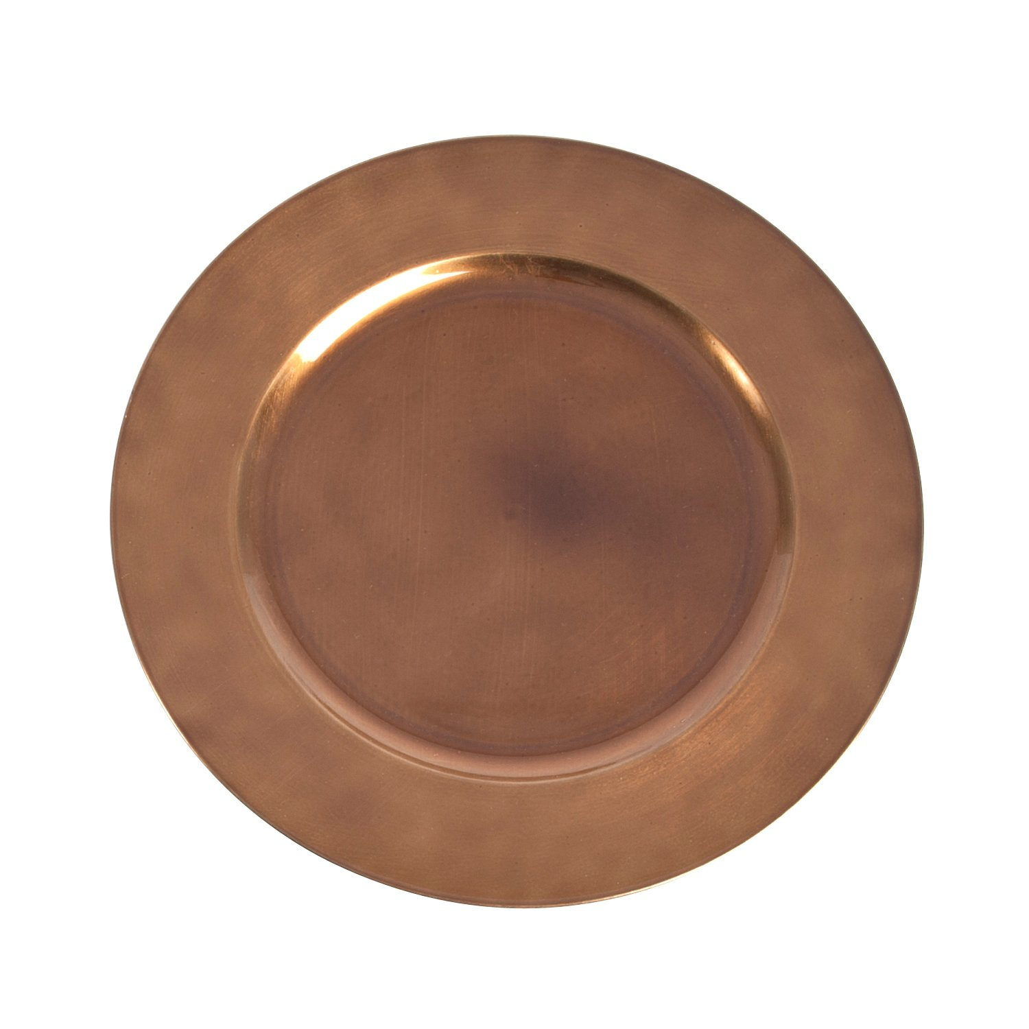 SARO LIFESTYLE CH001.CO13R Classic Design Charger Plate, Copper, 13'' (Set of 4 pcs)