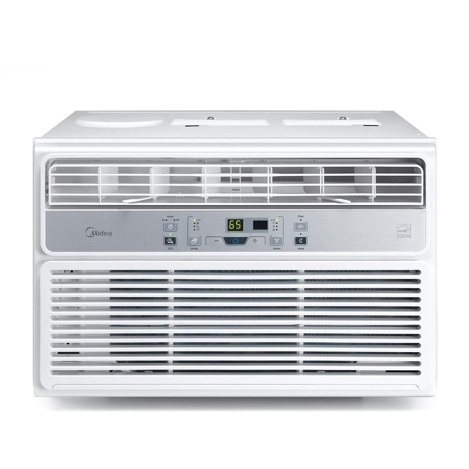 MIDEA MAW06R1BWT Window Air Conditioner 6000 BTU Easycool AC (Cooling, Dehumidifier and Fan Functions) for Rooms up to 250 Sq, ft. with Remote Control, 6,000, White by MIDEA