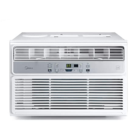 MIDEA MAW06R1BWT Window Air Conditioner 6000 BTU Easycool AC Cooling, Dehumidifier and Fan Functions for Rooms up to 250 Sq, ft. with Remote Control, 6,000, White