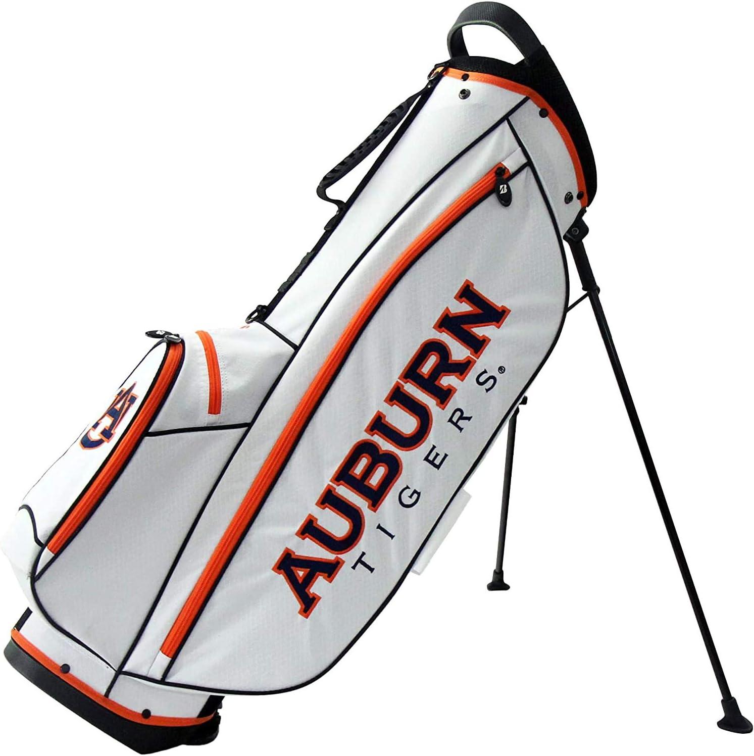 Bridgestone 2019 Collegiate University NCAA 9 In 4 Way Stand Lightweight Golf Bag with Carry Handle, Auburn