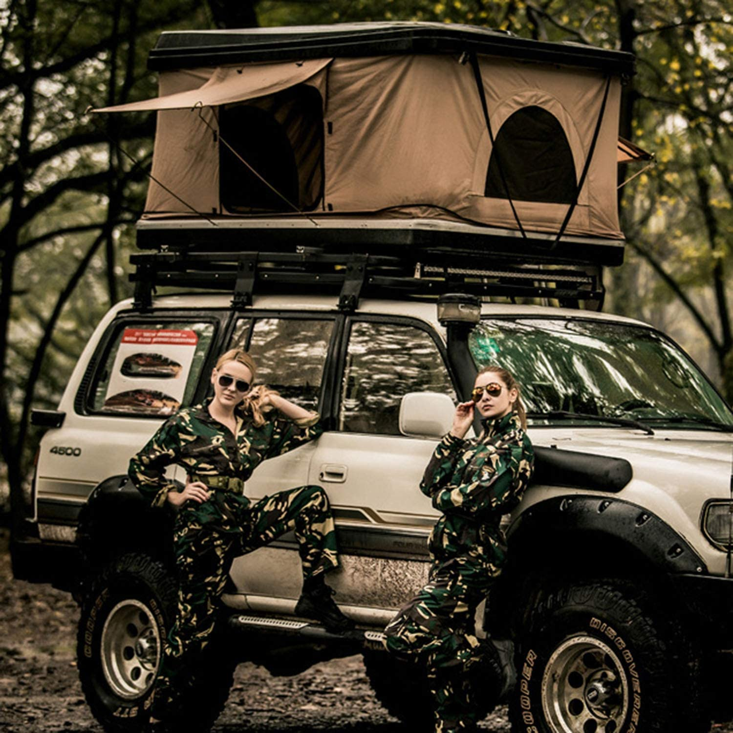 Hard Top Tent One Bedroom Hydraulic Helicopter Roof Tent Camping ABS Car Tent