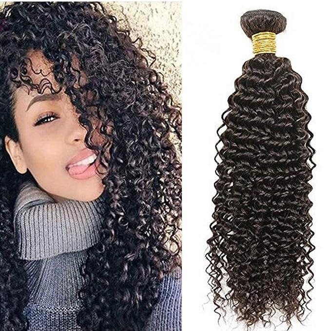 Ugeat 16 Pouce Tissage Bresilien Boucle Crepu Kinky Curly 100% Unprocessed  Vierge Cheveux Humains Naturel 100g  Amazon.fr  Beauté et Parfum 688afe1d8e7