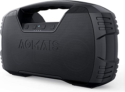 Amazon.com: Portable Waterproof Bluetooth Speaker, AOMAIS 40-Hour Playtime Wireless Outdoor Speakers, 25W Rich Bass Impressive Sound, Stereo Pairing, Built-in Mic, 100ft Bluetooth for Home Party (NO LED Lights): Electronics