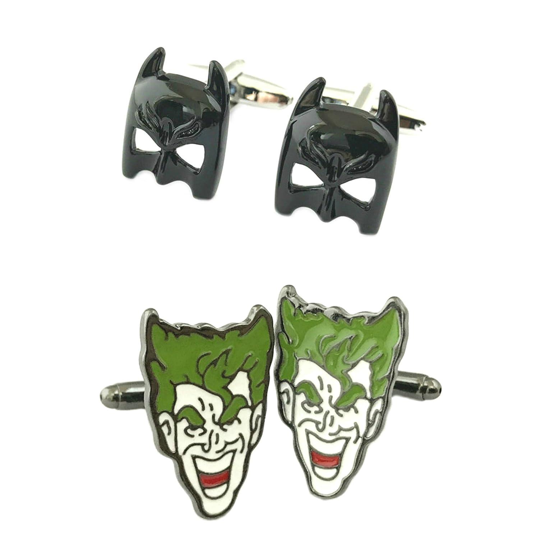 Outlander gear dc comics 2 pairs batman mask joker superhero 2018 movie logos wedding groom groomsmen mens boys cufflinks