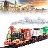 LIMBAKSHIT Vintage chuu chuu Train with Big Track and Real Smoke with Flashlight (Multicolour)-chuu chuu