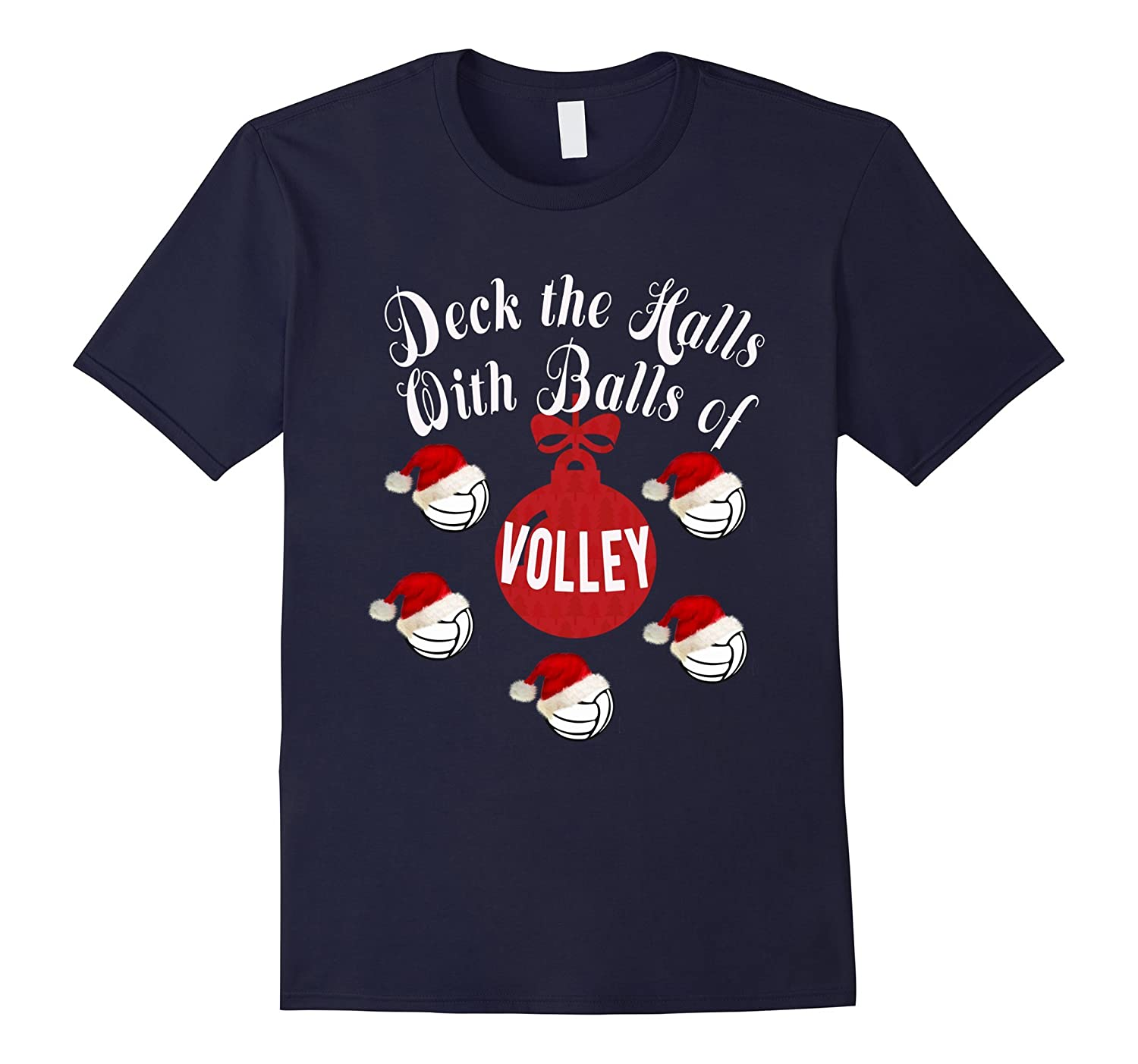 Top Best Volleyball Funny Christmas Gift T-Shirt-ANZ