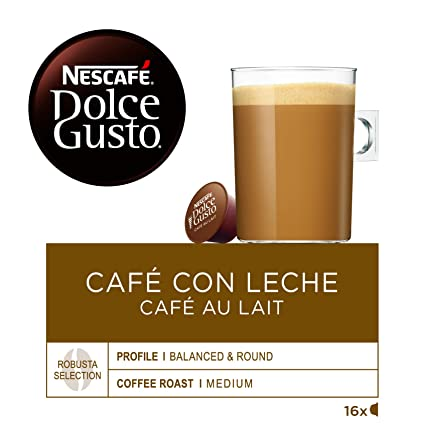 Nescafe Dolce Gusto Cafe au lait 5.64 oz: Amazon.com ...