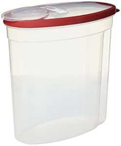 Rubbermaid FBA_1909020 Cereal Keeper, Value Pack of 2 Containers 1.5-Gallon, Clear