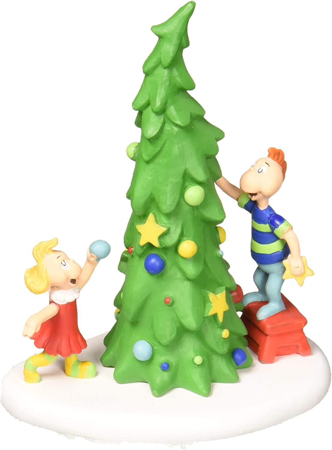 Amazon Com Department 56 Dr Seuss The Grinch Village Accessories Whoville Christmas Tree Figurine 4 Inch Multicolor Home Kitchen