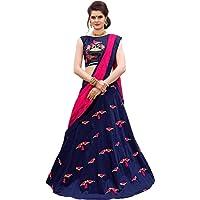 Brotherfab Fashion Women's Taffeta Silk Lehenga Choli (red_1010 _Red_ Free Size)