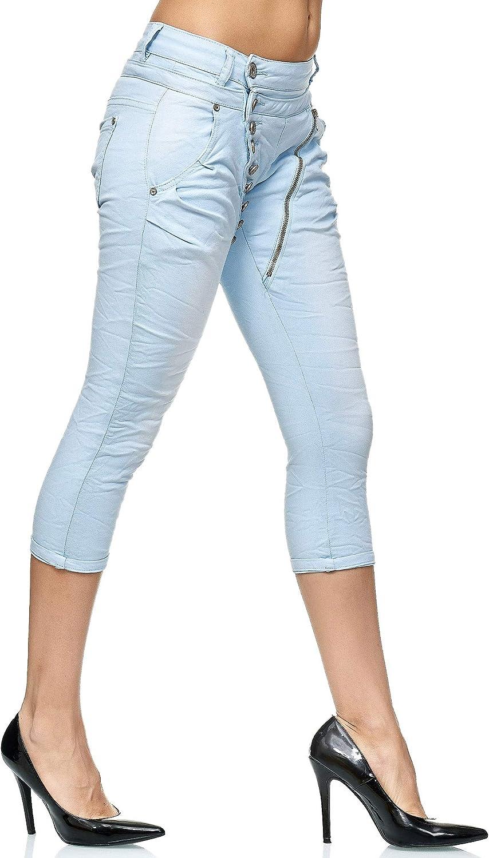 Elara 3//4 Jeans Donna Stretti Vita Alta Capri Chunkyrayan