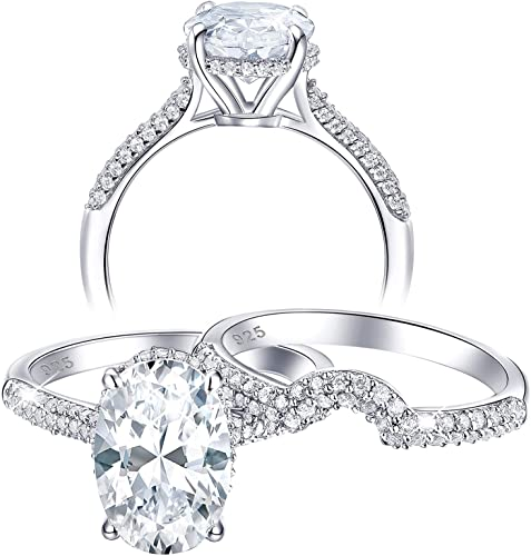 Solid 925 sterling silver cubic zircon Gemstone women/'s love proposal anniversary engagement wedding ring Jewellery for girls /& women/'s Ring