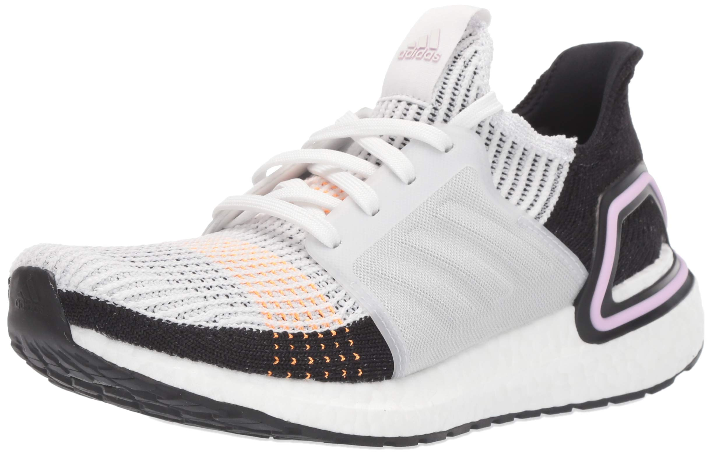 adidas Women's Ultraboost 19 Running Shoe, Crystal White/Black, 10 M US by adidas